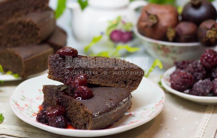 рецепт шоколадного манника на воде
