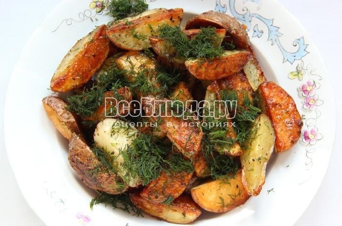 картошка по селянски готова