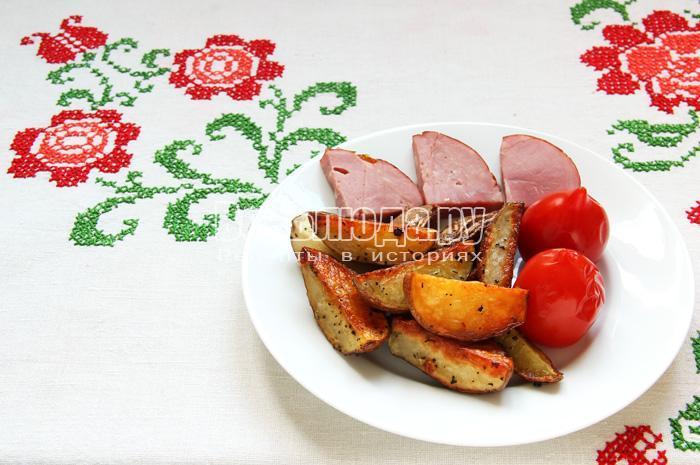 Картошка по-селянски в духовке