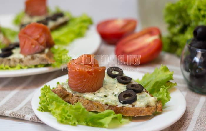 рецепт закуски с соленой семгой