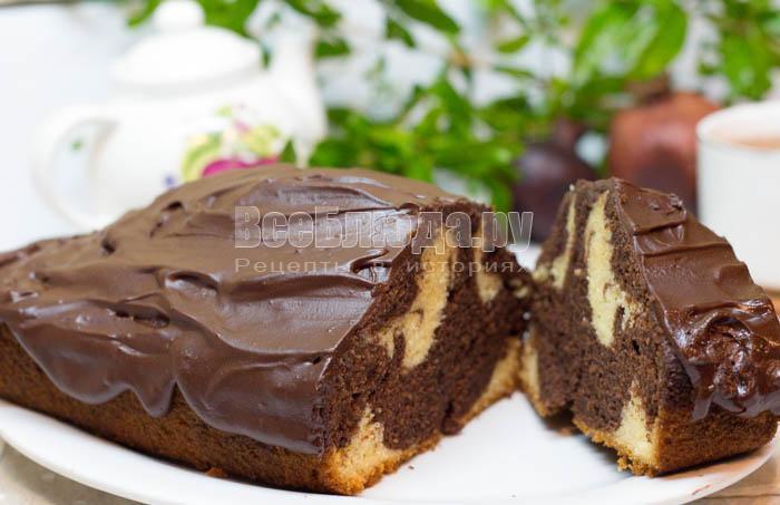 рецепт вкусного мраморного кекса