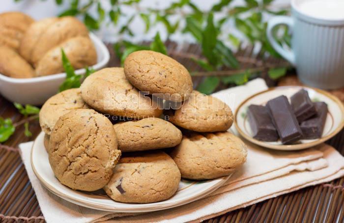 рецепт печенья с кусочками шоколада