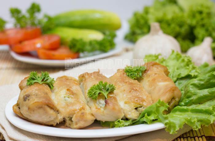 рецепт рулетиков из курицы запеченных в духовке