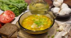 Суп из свинины на косточке с вермишелью...