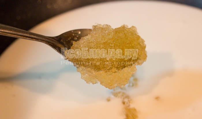 выложить желатин в сливки