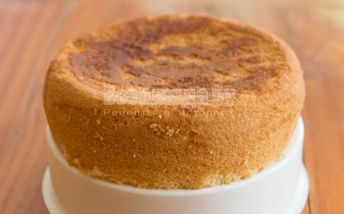 готовый бисквит на кипятке в мультиварке