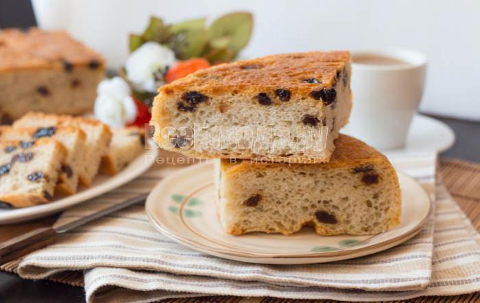 готовый сладкий хлеб