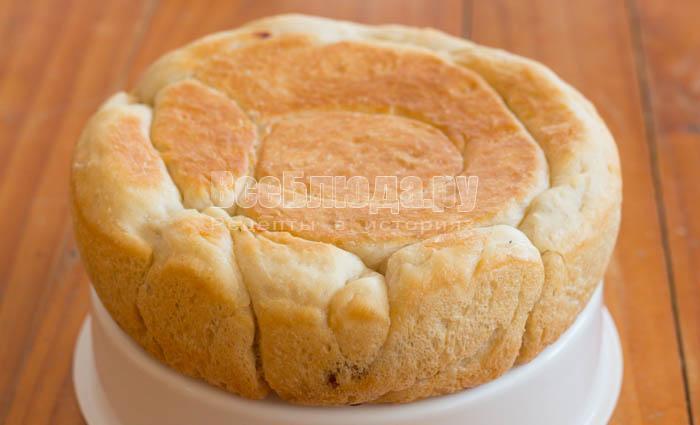 готовый пирог запечь