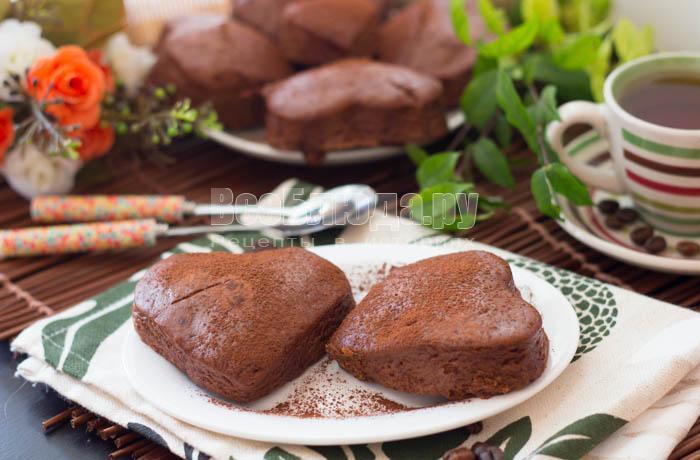 шоколадное печенье в пароварке