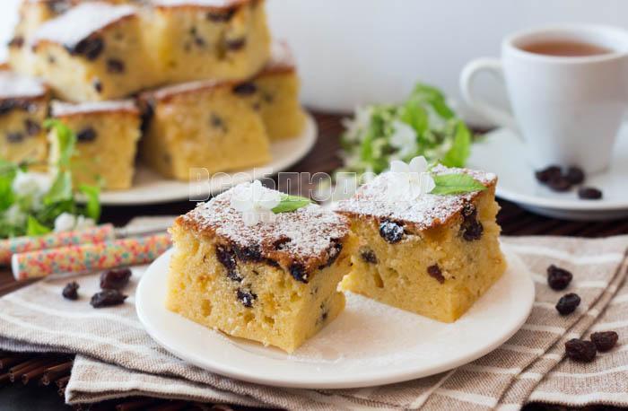 рецепт столичного кекса с изюмом