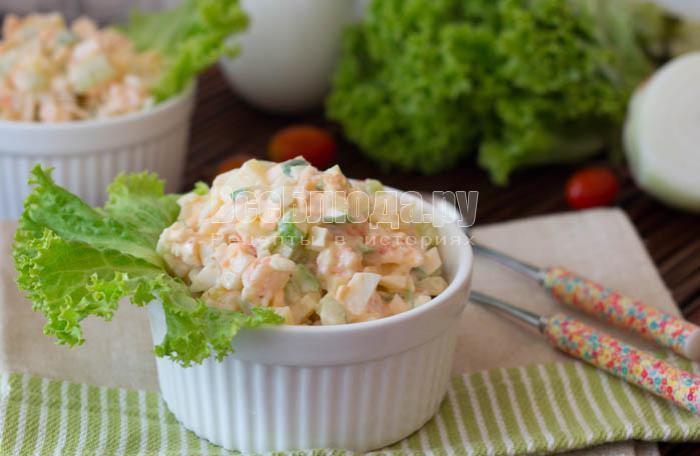 креветочный салат вкусный