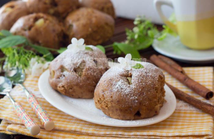 готовое печенье на пару с яблоками в мультиварке