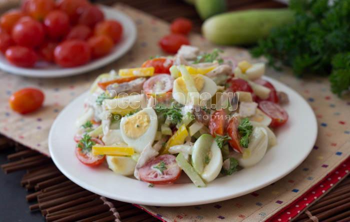 перемешала салат