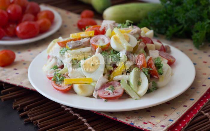 перепелиный салат готов