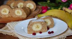 Пирожное с бананом