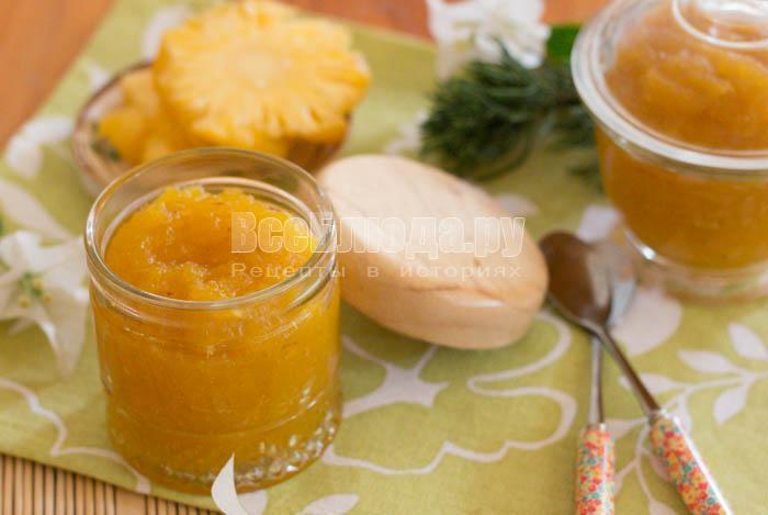 как сварить джем из свежих ананасов