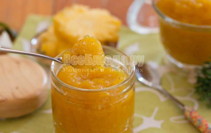 рецепт ананасового джема