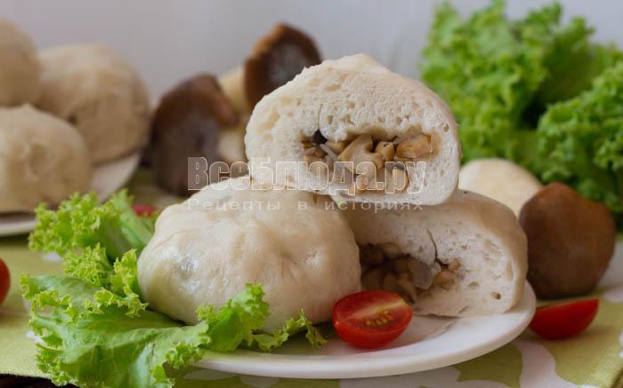 пирожки с грибами в разрезе