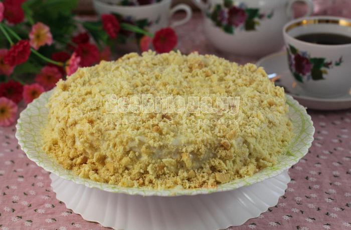 готовый тортик медовик со сметаной