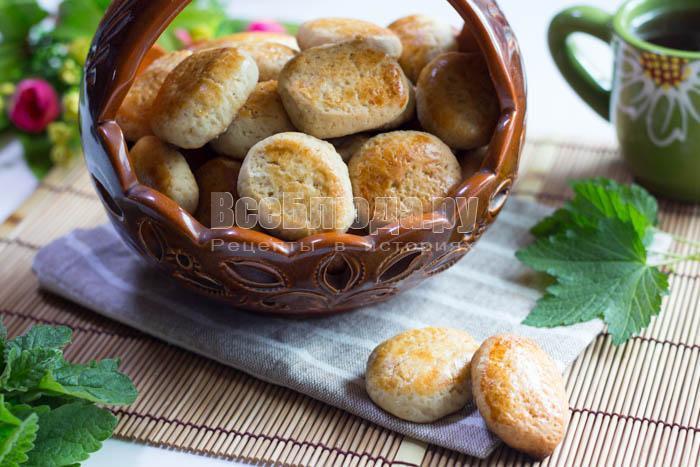 готовое мягкое печенье на рассоле