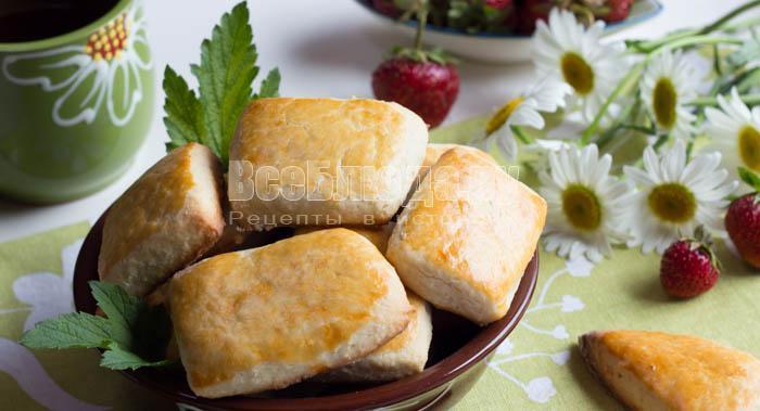 готовое сметанное печенье