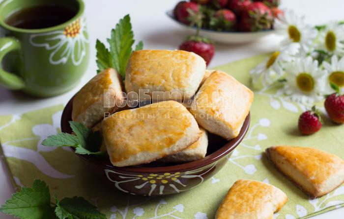 очень вкусное печенье на сметане