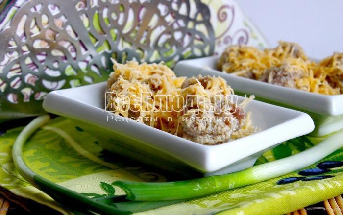 готовые детские сырные фрикадельки