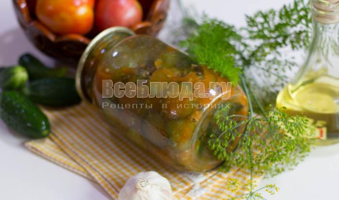 готовые огурчики в томате с чесноком