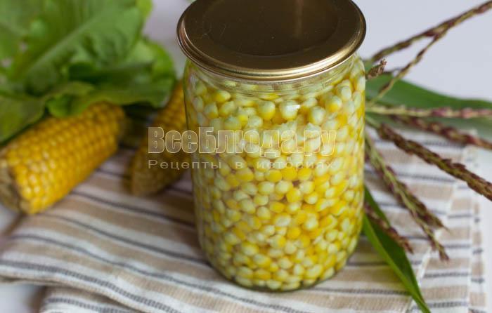 разлить кукурузу по банкам