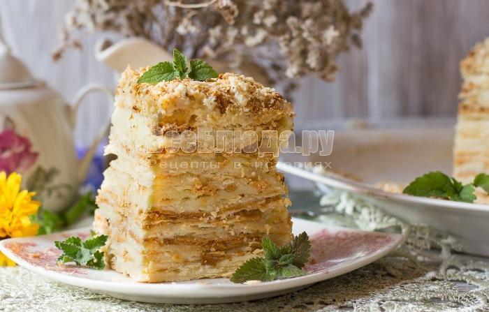 Торт Наполеон классический в домашних условиях