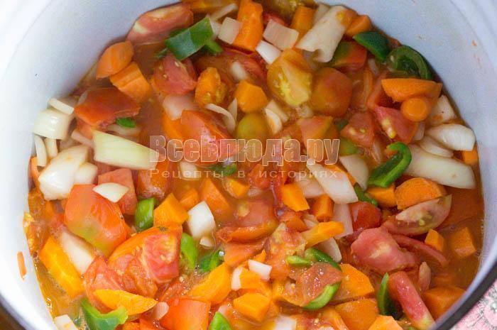 овощи потушились