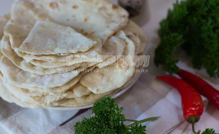 Лаваш на кефире (на сковороде)