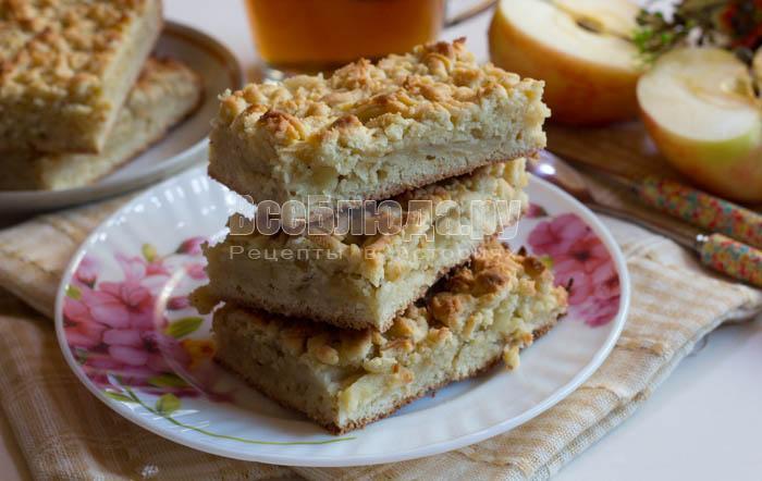 яблочный пирог тертое тесто - быстро и удобно