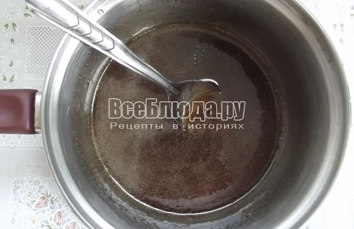 сварить сироп с агар-агаром и сахаром