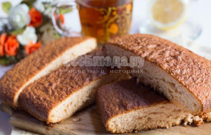 готовый пирог на киселе