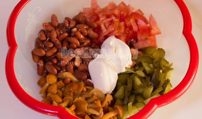 салат с красной фасолью консервированной рецепты