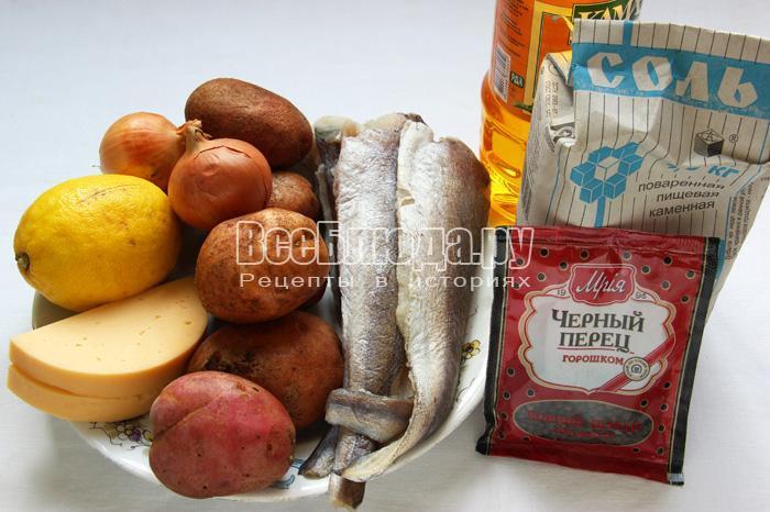 рецепт картошки и филе хека в духовке