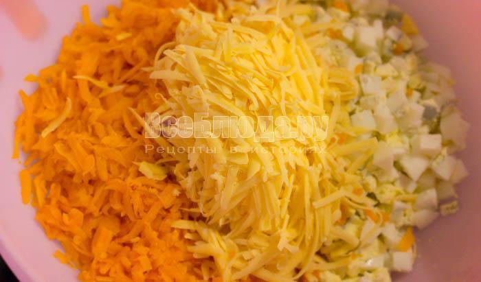 Салат из картофеля и моркови вареной