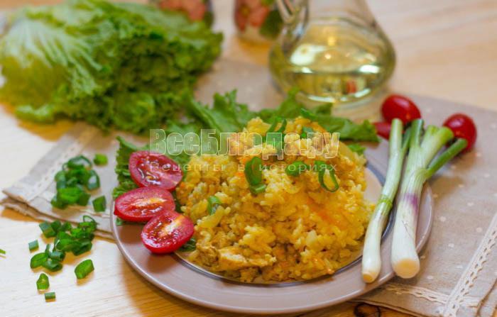 вкусное куриное филе приготовленное в мультиварке с рисом