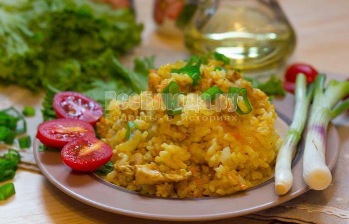 Куриное филе в мультиварке с рисом