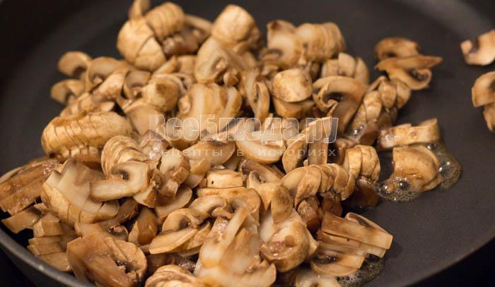 порезать грибы