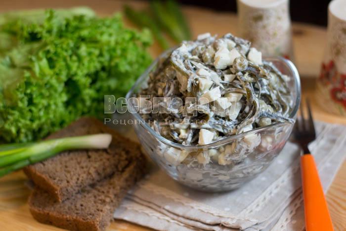готовый дальневосточный салат из морской капусты
