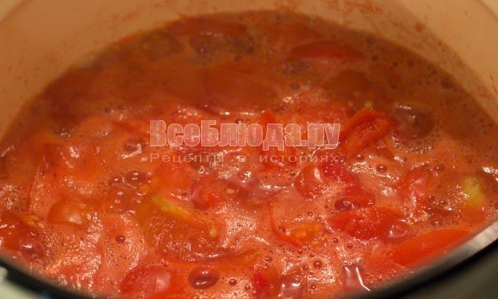 проварить помидоры