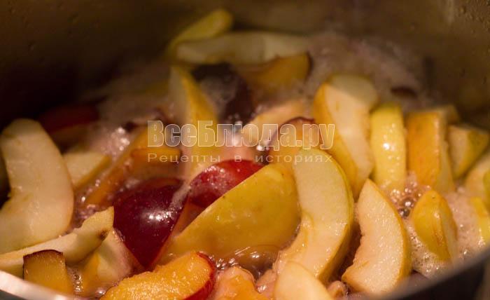 фрукты пустили сок