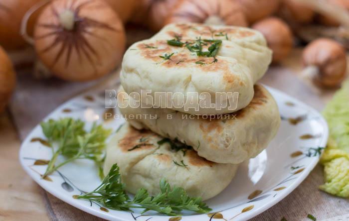 Лепешки на кефире с картофельной начинкой