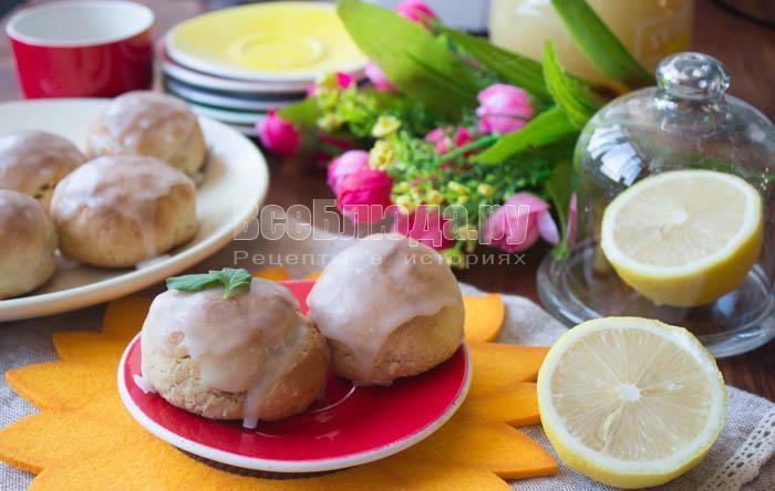 Медовые пряники в лимонной глазури