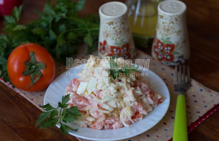 готовый салат из гребешка
