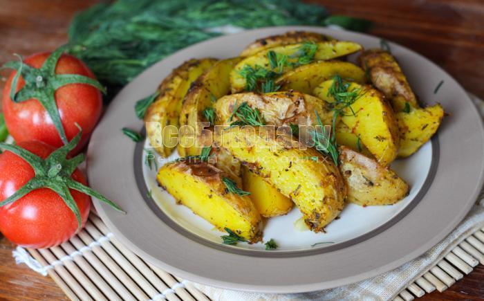 куркума дает картошке красивый желтый цвет