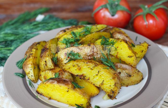 Печеная картошка в духовке рецепт с пошагово