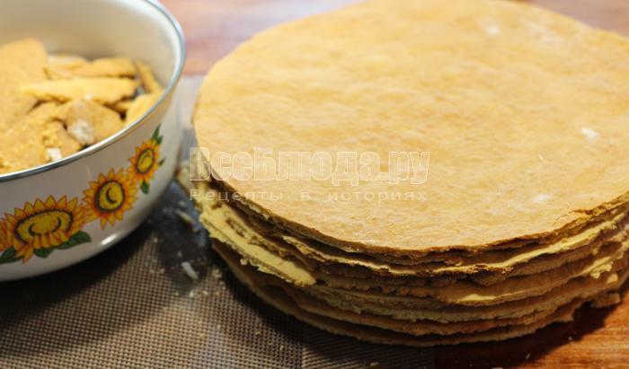 Торт рыжик наливной классический рецепт с пошагово